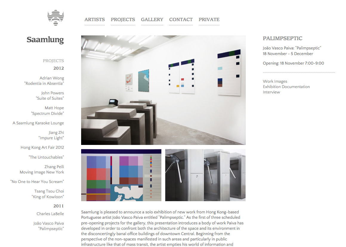 Screenshot of a neatly structured website with colorful images on a white background